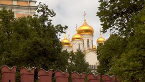 Abóbadas da igreja de St Ioanna Lestvichnika Foto de Stock Royalty Free