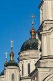 Abóbadas da igreja ortodoxa do russo Imagens de Stock