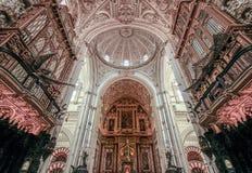 Abóbadas da Mesquita-catedral em Córdova Espanha Andalucia imagem de stock