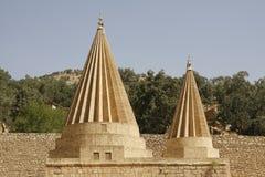 Abóbadas de um templo de Yezidi em Lalish, Iraque Imagens de Stock