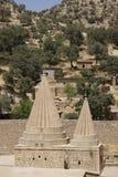 Abóbadas do templo de Yezidi em Lalish, Curdistão Imagens de Stock Royalty Free