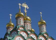 Abóbadas douradas de Rússia Imagens de Stock