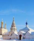 Abóbadas douradas do Ryazan Kremlin Imagens de Stock Royalty Free
