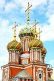 Abóbadas na igreja Nizhny Novgorod de Stroganov Fotografia de Stock Royalty Free