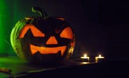 Abóbora assustador de Halloween Fotografia de Stock