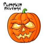 Abóbora assustador de Halloween Fotografia de Stock Royalty Free