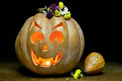 Abóbora assustador de Halloween Imagem de Stock