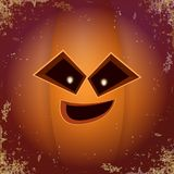 Abóbora assustador dos desenhos animados de Dia das Bruxas com cara Vector a ilustração dos desenhos animados da abóbora Carved e ilustração stock