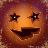 Abóbora assustador dos desenhos animados de Dia das Bruxas com cara Vector a ilustração dos desenhos animados da abóbora Carved e ilustração royalty free