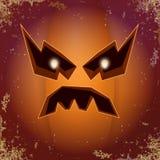 Abóbora assustador dos desenhos animados de Dia das Bruxas com cara Vector a ilustração dos desenhos animados da abóbora Carved e ilustração do vetor