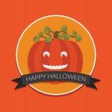 Abóbora cinzelada de Halloween Imagens de Stock Royalty Free
