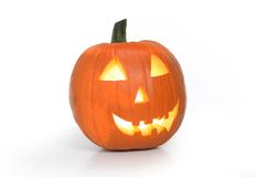 Abóbora cinzelada de Halloween fotos de stock