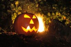 Abóbora cinzelada de Halloween Fotografia de Stock Royalty Free