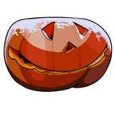 Abóbora cinzelada de Halloween ilustração do vetor
