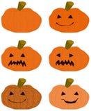 Abóbora cinzelada de Halloween ilustração stock