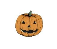 Abóbora cinzelada de Halloween Foto de Stock Royalty Free