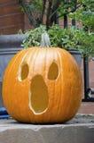 Abóbora cinzelada de Halloween Fotografia de Stock