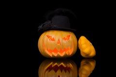Abóbora cinzelada de Halloween Imagem de Stock