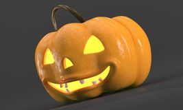 Abóbora cinzelada de Halloween Simbol do Dia das Bruxas Fotos de Stock Royalty Free