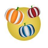 Abóbora colorida da decoração de Dia das Bruxas Ilustração do vetor Imagem de Stock Royalty Free