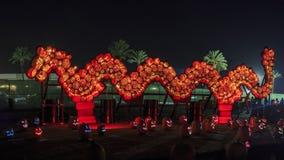 Abóbora com luz na noite Foto de Stock Royalty Free