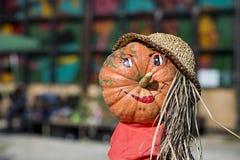 Abóbora com uma cara engraçada Imagem de Stock