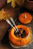 Abóbora cozida com frutos secados Foto de Stock Royalty Free