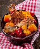 Abóbora cozida com galinha Fotos de Stock