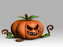 Abóbora 3D no fundo claro, mal, assustador, fantasma, o Dia das Bruxas ilustração stock