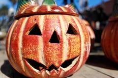 Abóbora da argila de Halloween Imagens de Stock Royalty Free