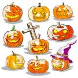 Abóbora da jaque-o-lanterna de Halloween Imagem de Stock Royalty Free