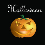 abóbora de 3D Halloween Foto de Stock