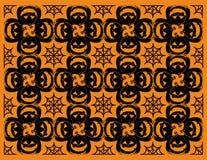 Abóbora de Dia das Bruxas e teste padrão do spiderweb Fotos de Stock