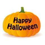 Abóbora de Dia das Bruxas no fundo branco, Imagem de Stock Royalty Free