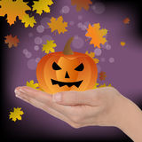 Abóbora de Halloween Foto de Stock Royalty Free
