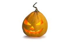 Abóbora de Halloween isolada no branco Imagens de Stock Royalty Free