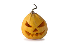 Abóbora de Halloween isolada no branco Imagens de Stock