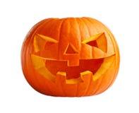 Abóbora de Halloween no branco Fotos de Stock Royalty Free