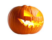 Abóbora de Halloween no branco Imagens de Stock Royalty Free