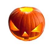 Abóbora de Halloween no branco Foto de Stock