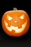 Abóbora de Halloween no preto Imagem de Stock