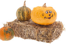 Abóbora de Halloween pintada Foto de Stock Royalty Free