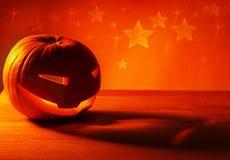 Abóbora de incandescência de Halloween Imagens de Stock