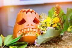 Abóbora e abobrinha para Dia das Bruxas Imagens de Stock Royalty Free