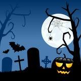 Abóbora e cemitério de Dia das Bruxas ilustração stock