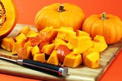 Abóbora e fatias Autumn Healthy Food Nutrition Seasona da abóbora fotos de stock