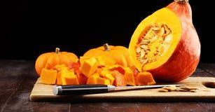 Abóbora e fatias Autumn Healthy Food Nutrition Seasona da abóbora fotos de stock royalty free