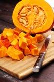 Abóbora e fatias Autumn Healthy Food Nutrition Seasona da abóbora imagens de stock