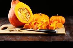Abóbora e fatias Autumn Healthy Food Nutrition Seasona da abóbora imagens de stock royalty free