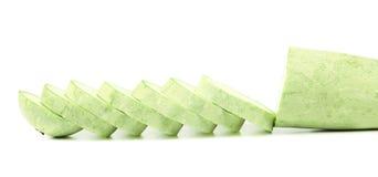 Abóbora e fatias do legume fresco. Imagens de Stock